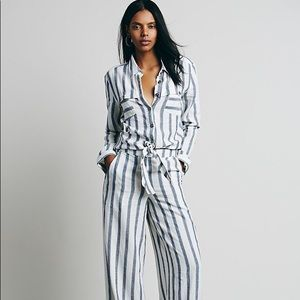 Free People Sensual Wrap One Piece Jumpsuit